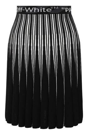 Женская юбка из вискозы OFF-WHITE черного цвета, арт. 0WHL011R21KNI001 | Фото 1