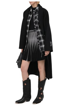 Женская юбка из вискозы OFF-WHITE черного цвета, арт. 0WHL011R21KNI001 | Фото 2