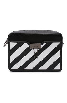 Женская поясная сумка diag OFF-WHITE черного цвета, арт. 0WNA088R21LEA001 | Фото 1