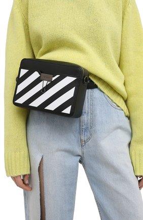 Женская поясная сумка diag OFF-WHITE черного цвета, арт. 0WNA088R21LEA001 | Фото 2