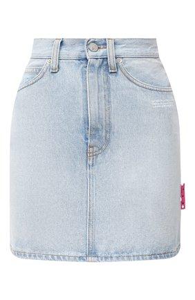 Женская джинсовая юбка OFF-WHITE голубого цвета, арт. 0WYF005R21DEN001 | Фото 1