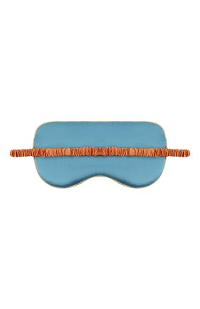 Женские шелковая маска для сна OLIVIA VON HALLE голубого цвета, арт. PS2160 | Фото 2 (Материал внешний: Шелк)