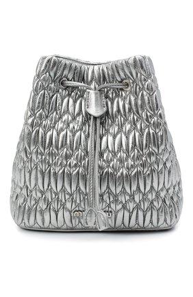 Женская сумка MIU MIU серебряного цвета, арт. 5BE050-FVJ-F0135-OOO | Фото 1