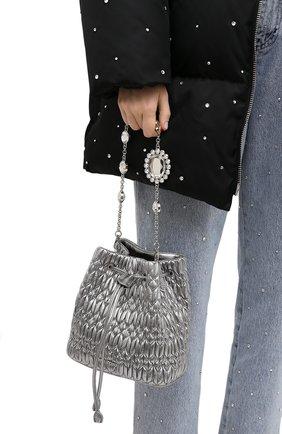 Женская сумка MIU MIU серебряного цвета, арт. 5BE050-FVJ-F0135-OOO | Фото 2