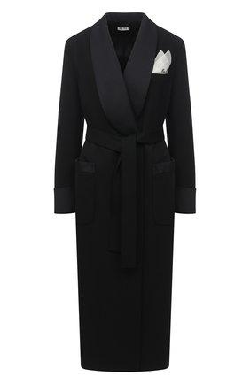 Женское шерстяное пальто MIU MIU черного цвета, арт. MS1798-1R1-F0002   Фото 1