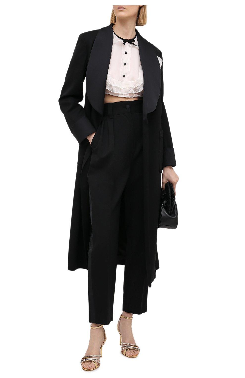 Женское шерстяное пальто MIU MIU черного цвета, арт. MS1798-1R1-F0002   Фото 2