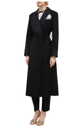 Женское шерстяное пальто MIU MIU черного цвета, арт. MS1798-1R1-F0002   Фото 3