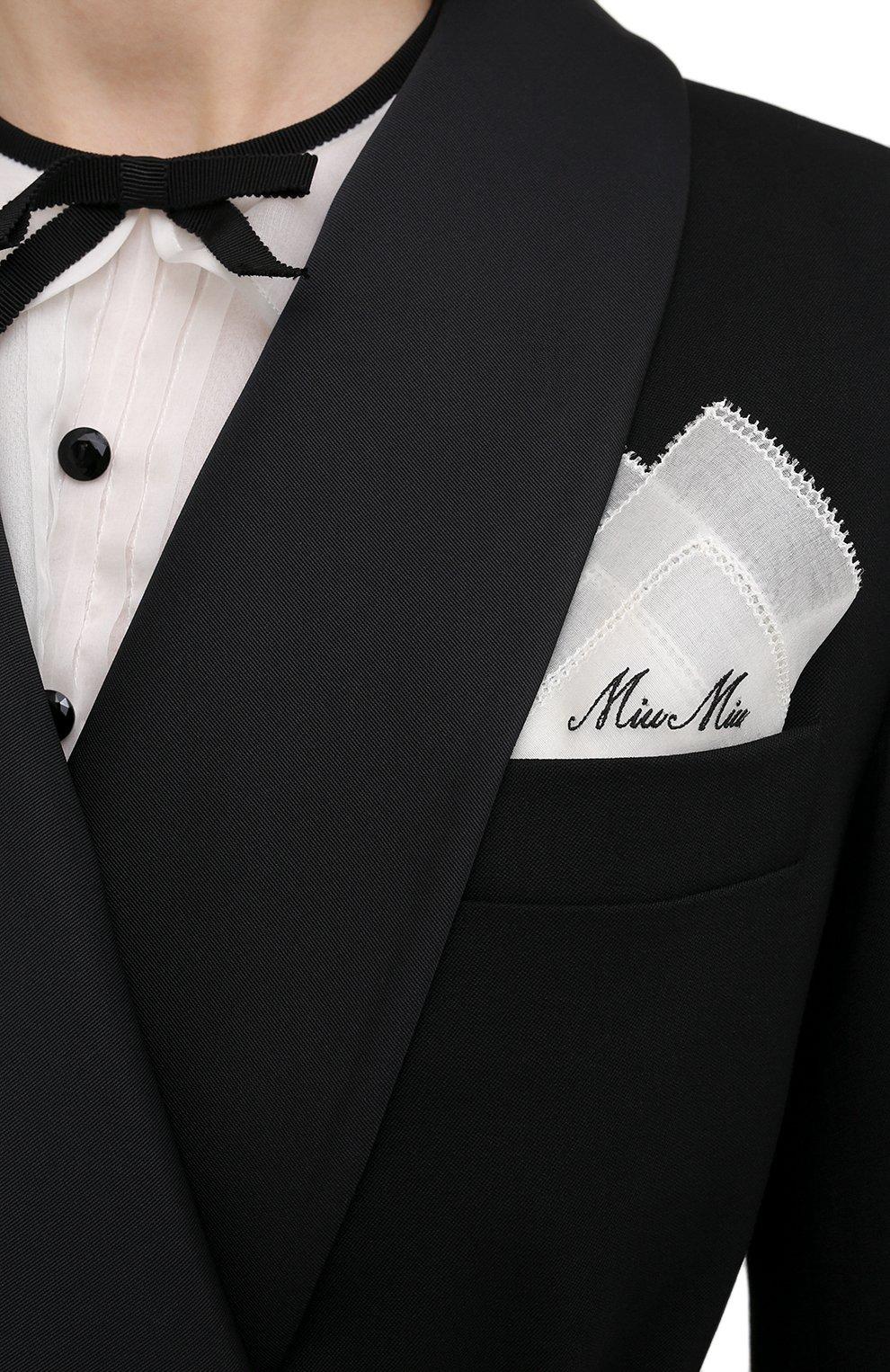 Женское шерстяное пальто MIU MIU черного цвета, арт. MS1798-1R1-F0002   Фото 5