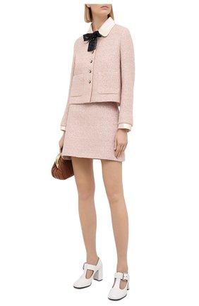 Женский шерстяной жакет MIU MIU розового цвета, арт. MH1603-1UT0-F0236 | Фото 2