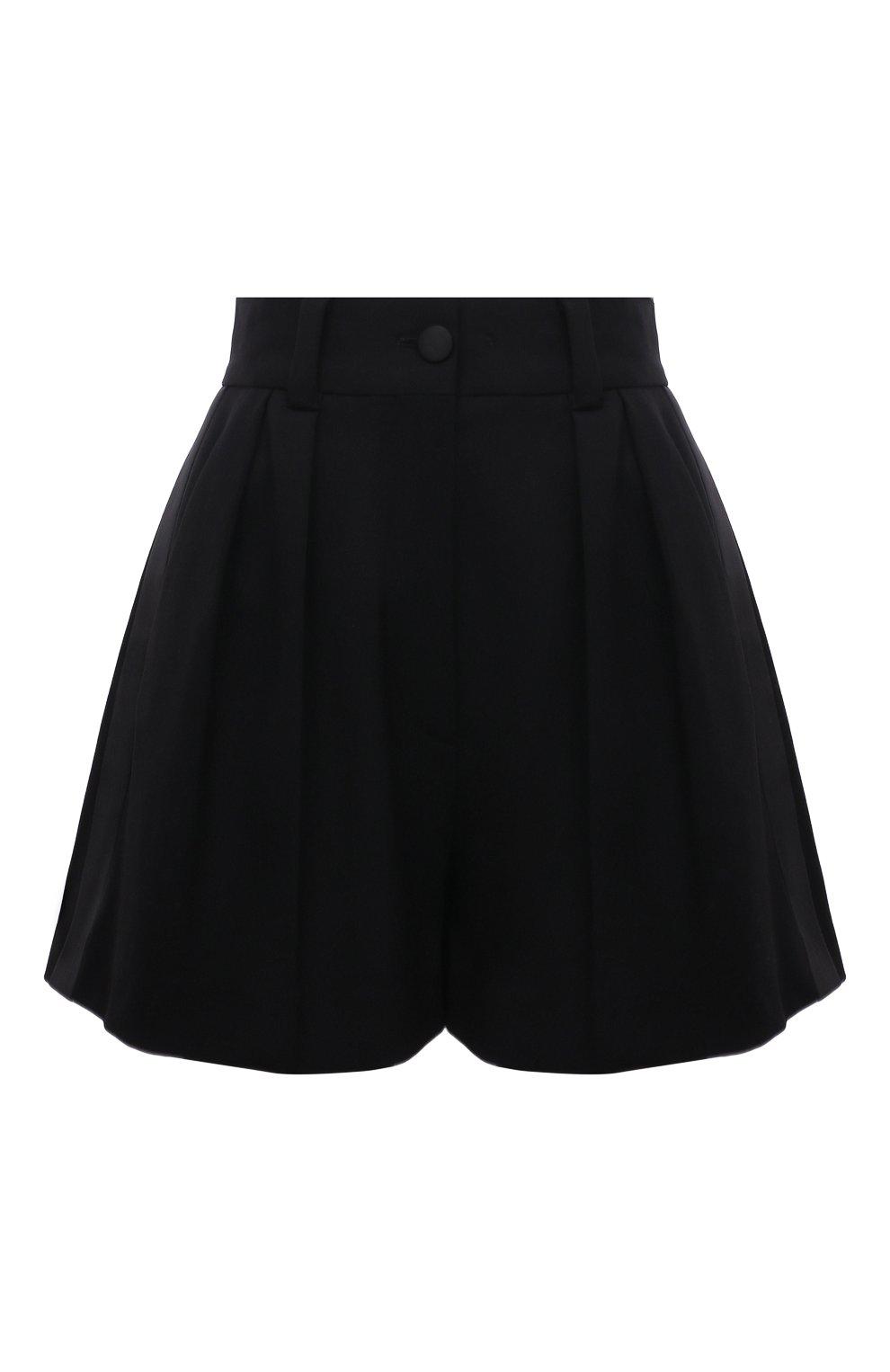 Женские шерстяные шорты MIU MIU черного цвета, арт. MP1425-1R1-F0002 | Фото 1 (Женское Кросс-КТ: Шорты-одежда; Материал внешний: Шерсть; Длина Ж (юбки, платья, шорты): Мини; Кросс-КТ: Широкие; Стили: Классический)