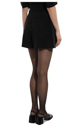 Женские шерстяные шорты MIU MIU черного цвета, арт. MP1425-1R1-F0002 | Фото 4 (Женское Кросс-КТ: Шорты-одежда; Материал внешний: Шерсть; Длина Ж (юбки, платья, шорты): Мини; Кросс-КТ: Широкие; Стили: Классический)