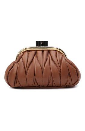 Женский клатч MIU MIU коричневого цвета, арт. 5BK011-N88-F0046-OOO | Фото 1