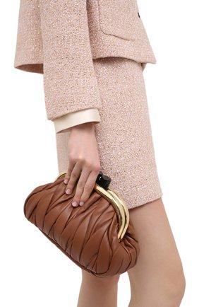 Женский клатч MIU MIU коричневого цвета, арт. 5BK011-N88-F0046-OOO | Фото 2