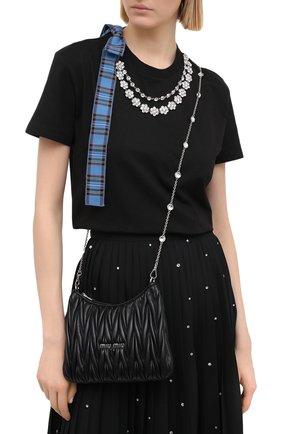 Женская сумка MIU MIU черного цвета, арт. 5BH189-2CE3-F0002-OOO | Фото 2