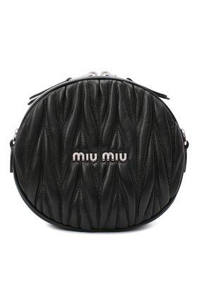 Женская сумка MIU MIU черного цвета, арт. 5BH191-2CE3-F0002-NOY | Фото 1