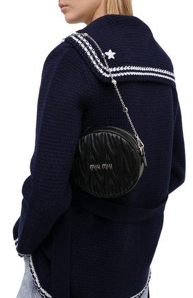 Женская сумка MIU MIU черного цвета, арт. 5BH191-2CE3-F0002-NOY | Фото 2