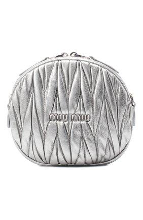 Женская сумка MIU MIU серебряного цвета, арт. 5BH191-2CE3-F0135-NOY | Фото 1