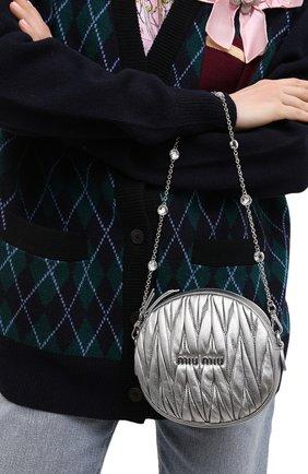 Женская сумка MIU MIU серебряного цвета, арт. 5BH191-2CE3-F0135-NOY | Фото 2