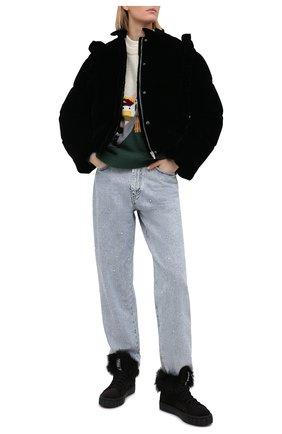 Женские замшевые кеды MIU MIU черного цвета, арт. 5T384D-3A0A-F0002-005   Фото 2