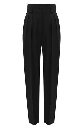 Женские шерстяные брюки MIU MIU черного цвета, арт. MP1424-1R1-F0002   Фото 1