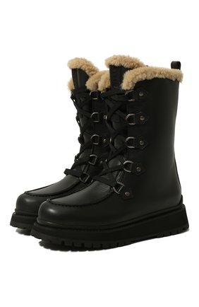Женские кожаные сапоги MIU MIU черного цвета, арт. 5U390D-3LEN-F0002-040   Фото 1