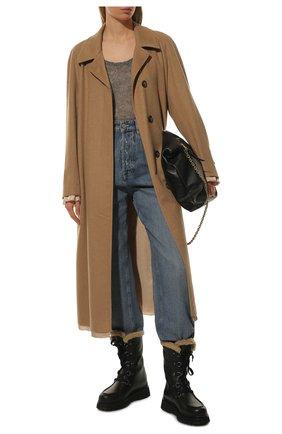 Женские кожаные сапоги MIU MIU черного цвета, арт. 5U390D-3LEN-F0002-040   Фото 2