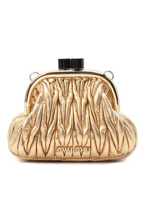 Женская сумка MIU MIU золотого цвета, арт. 5BP016-N88-F0522-OOO | Фото 1