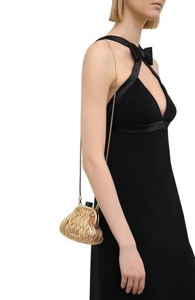 Женская сумка MIU MIU золотого цвета, арт. 5BP016-N88-F0522-OOO | Фото 2