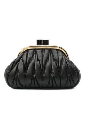 Женский клатч MIU MIU черного цвета, арт. 5BK011-N88-F0002-OOO | Фото 1