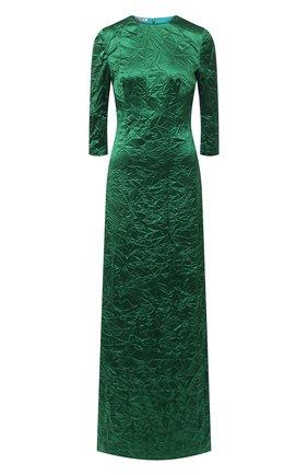 Женское шелковое платье MIU MIU зеленого цвета, арт. MF3953-WYZ-F0089   Фото 1