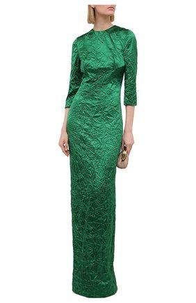 Женское шелковое платье MIU MIU зеленого цвета, арт. MF3953-WYZ-F0089   Фото 2