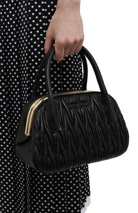 Женская сумка MIU MIU черного цвета, арт. 5BK016-N88-F0002-OOO | Фото 2