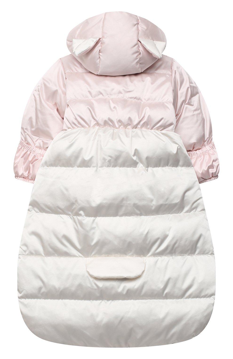 Детский пуховый конверт CHEPE розового цвета, арт. 391160 | Фото 2