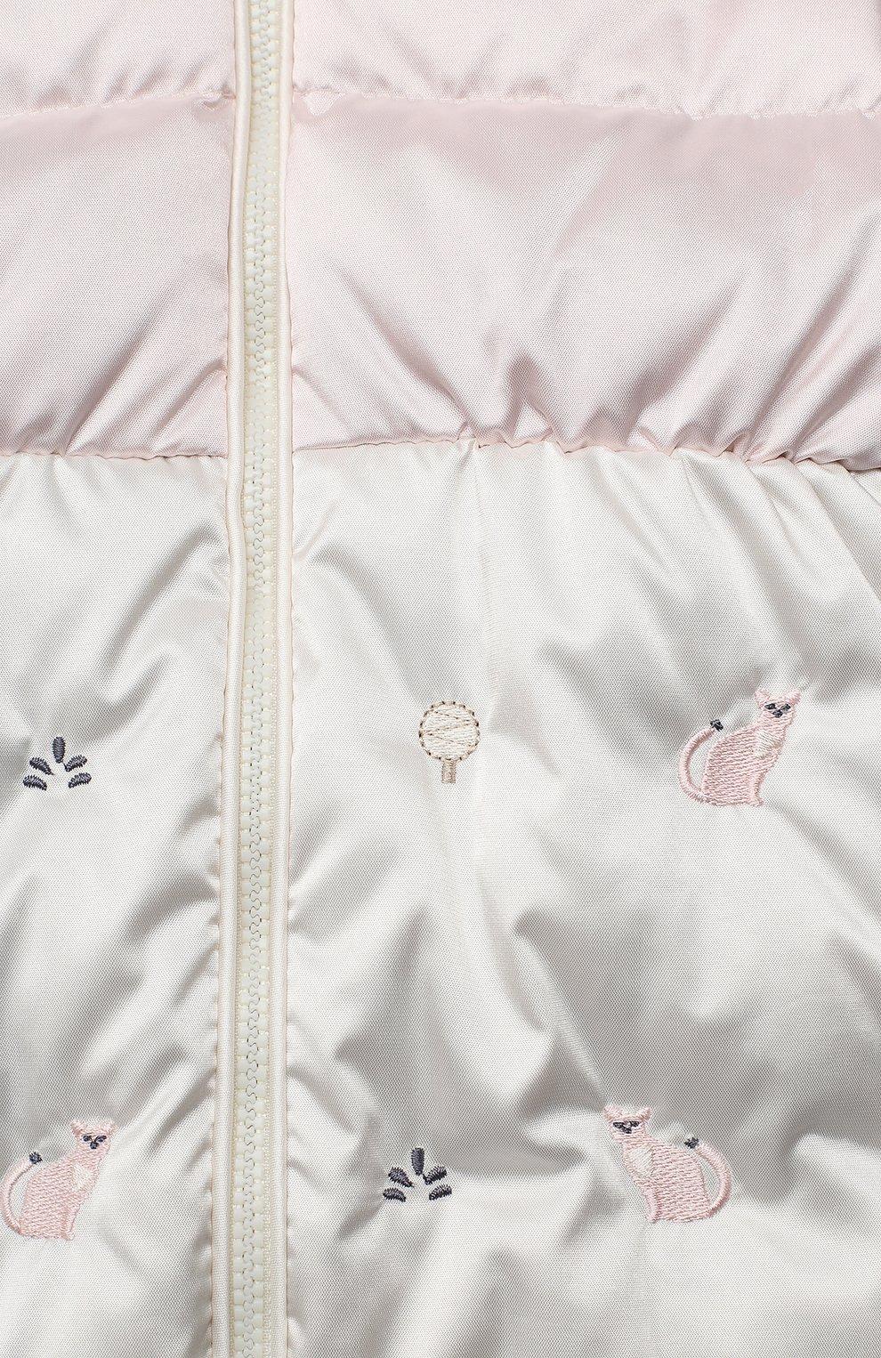 Детский пуховый конверт CHEPE розового цвета, арт. 391160 | Фото 3