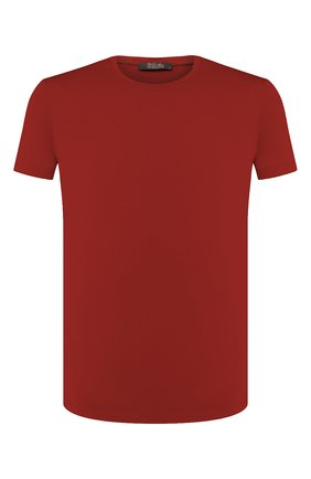 Мужская шерстяная футболка LORO PIANA красного цвета, арт. FAF6689 | Фото 1