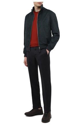 Мужская шерстяная футболка LORO PIANA красного цвета, арт. FAF6689 | Фото 2