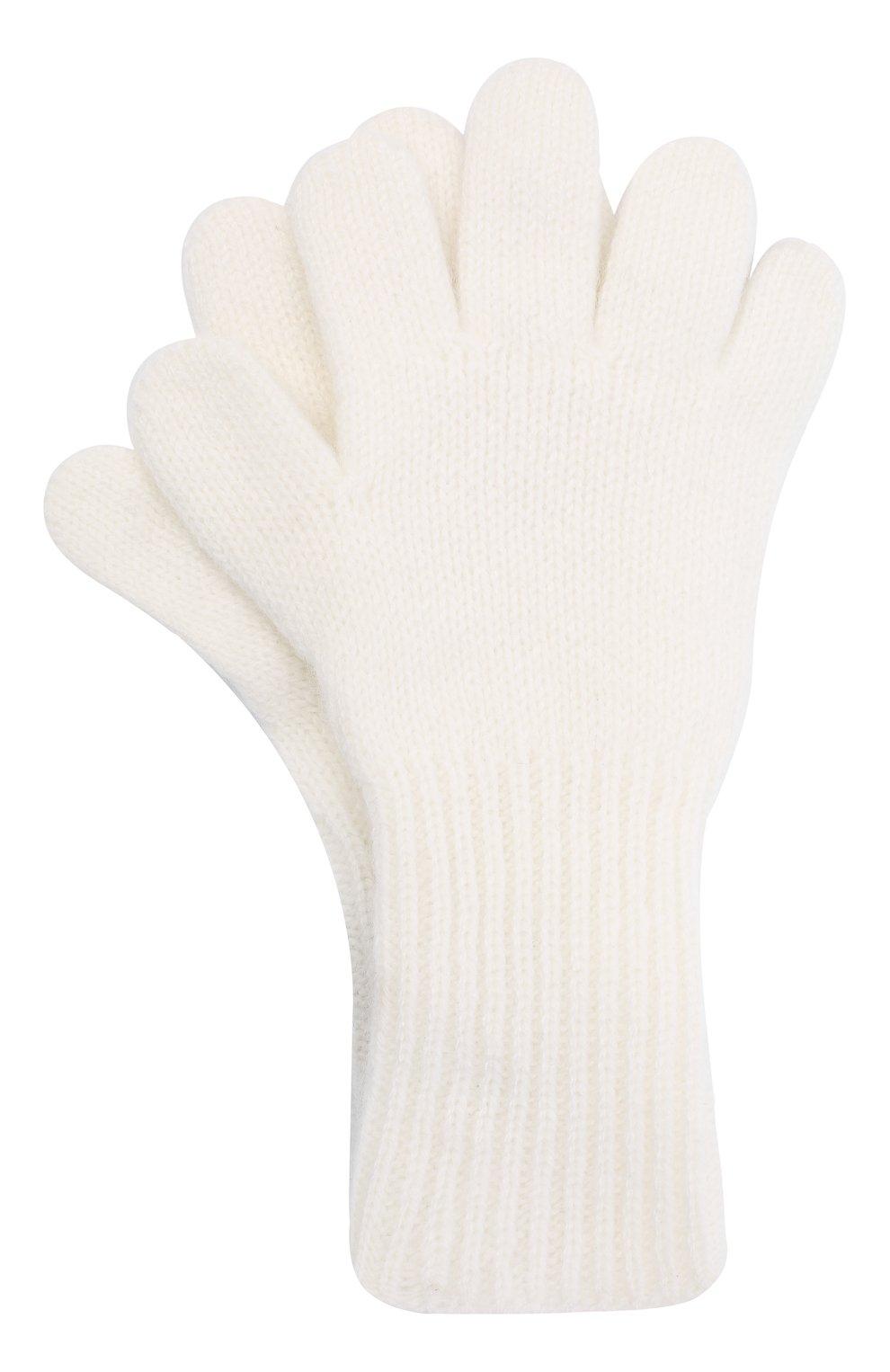 Детские кашемировые перчатки GIORGETTI CASHMERE бежевого цвета, арт. MB1699/14A | Фото 1 (Материал: Кашемир, Шерсть)