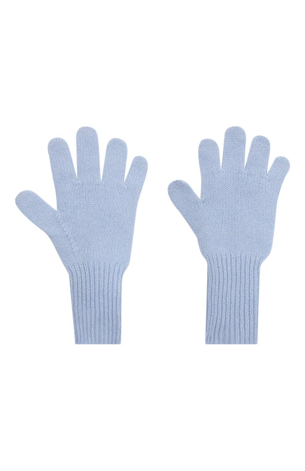 Детские кашемировые перчатки GIORGETTI CASHMERE голубого цвета, арт. MB1699/14A | Фото 2 (Материал: Кашемир, Шерсть)