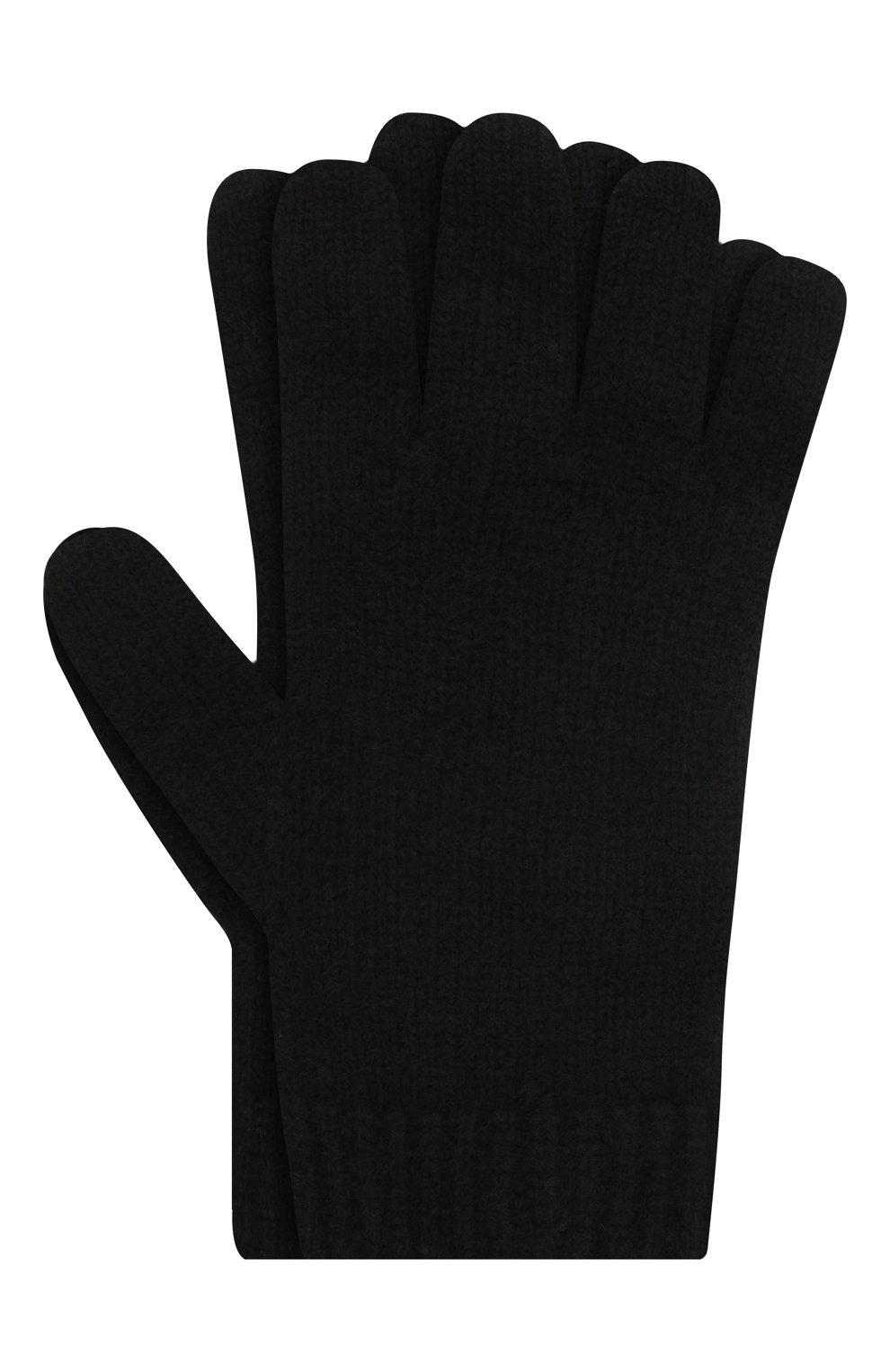Детские кашемировые перчатки GIORGETTI CASHMERE черного цвета, арт. MB1698/4A   Фото 1 (Материал: Кашемир, Шерсть)
