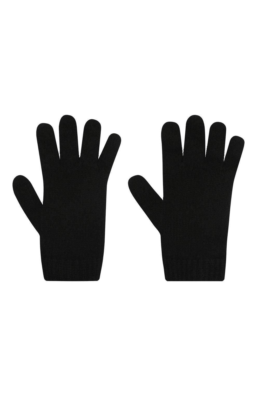 Детские кашемировые перчатки GIORGETTI CASHMERE черного цвета, арт. MB1698/4A   Фото 2 (Материал: Кашемир, Шерсть)