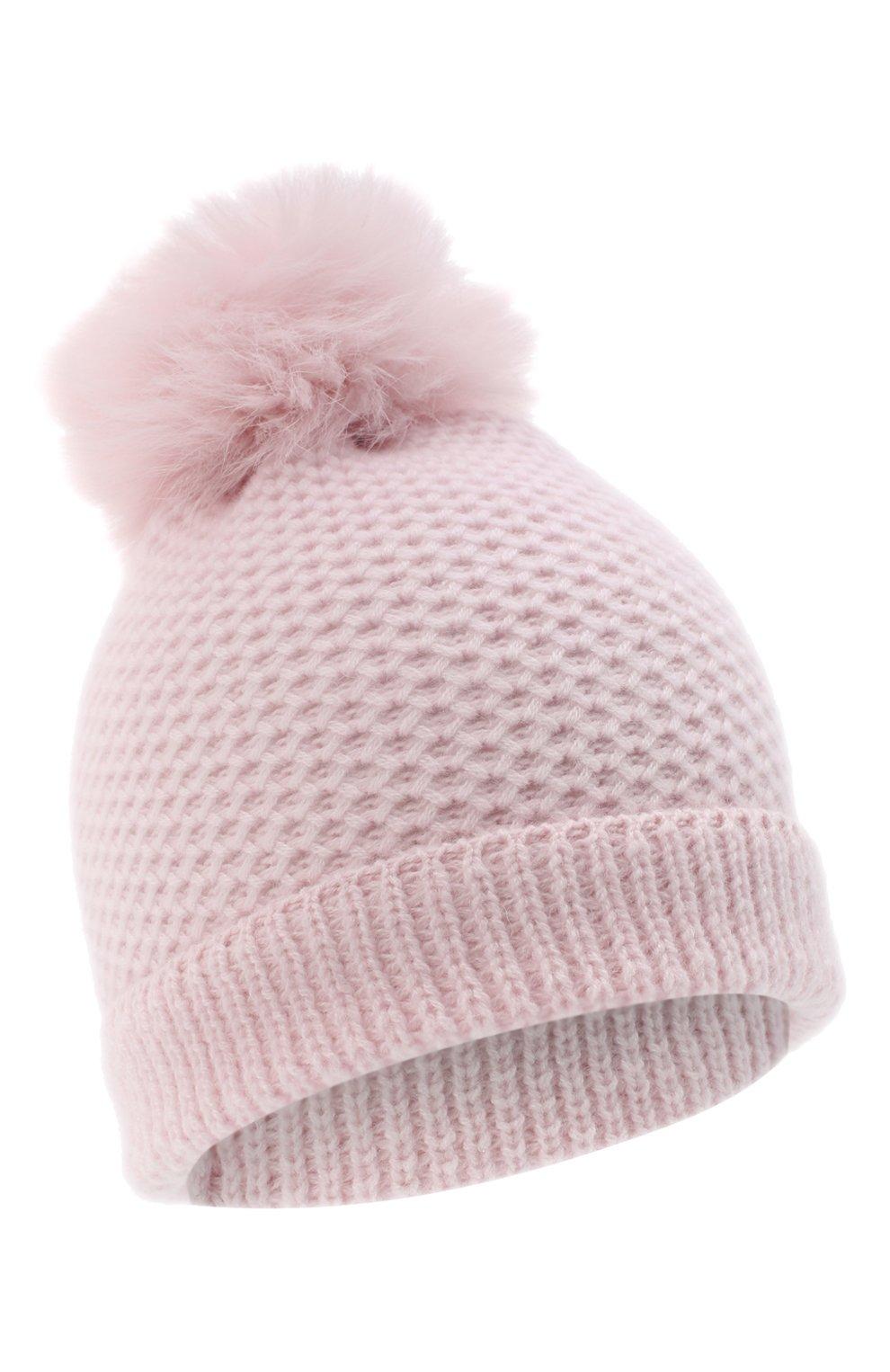 Детского кашемировая шапка GIORGETTI CASHMERE розового цвета, арт. MB1695/8A   Фото 1