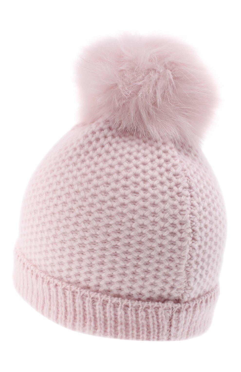 Детского кашемировая шапка GIORGETTI CASHMERE розового цвета, арт. MB1695/8A   Фото 2
