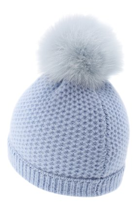 Детского кашемировая шапка GIORGETTI CASHMERE голубого цвета, арт. MB1695/8A | Фото 2