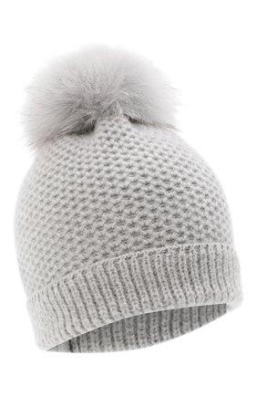 Детского кашемировая шапка GIORGETTI CASHMERE светло-серого цвета, арт. MB1695/8A | Фото 1