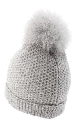 Детского кашемировая шапка GIORGETTI CASHMERE светло-серого цвета, арт. MB1695/8A | Фото 2