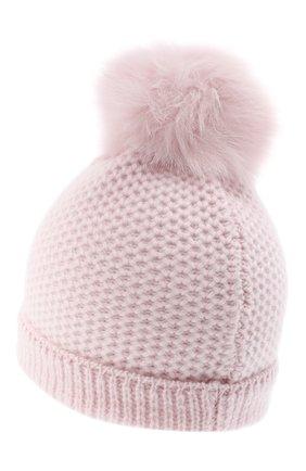 Детского кашемировая шапка GIORGETTI CASHMERE розового цвета, арт. MB1695/4A | Фото 2 (Материал: Кашемир, Шерсть)