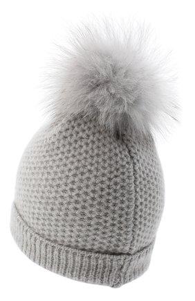 Детского кашемировая шапка GIORGETTI CASHMERE светло-серого цвета, арт. MB1695/4A | Фото 2 (Материал: Шерсть, Кашемир)