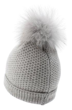 Детского кашемировая шапка GIORGETTI CASHMERE светло-серого цвета, арт. MB1695/14A | Фото 2 (Материал: Шерсть, Кашемир)