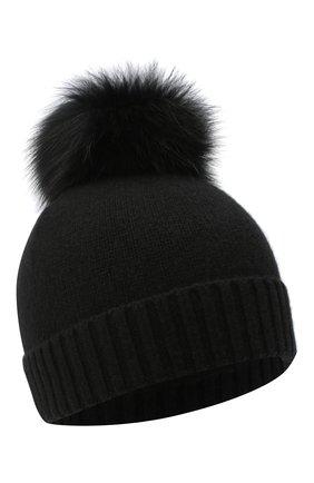 Детского кашемировая шапка GIORGETTI CASHMERE черного цвета, арт. MB1693/4A | Фото 1 (Материал: Шерсть, Кашемир)
