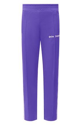 Мужские брюки PALM ANGELS фиолетового цвета, арт. PMCA007R21FAB0013701 | Фото 1